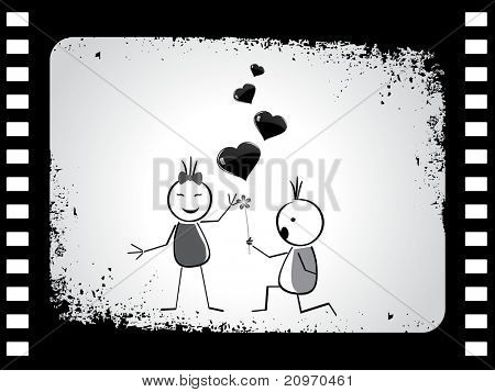 beautiful and elegant concept background with boy proposing girl