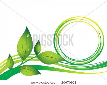 abstract go green background with leaf
