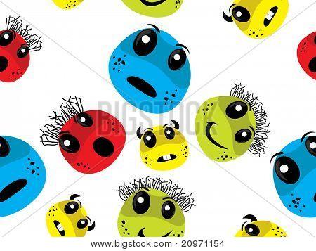 abstracte witte achtergrond met kleurrijke bacteriën, vectorillustratie