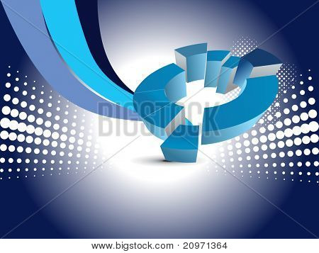 abstract blue corporate background with pie graph