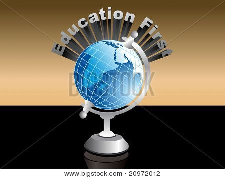 abstract background with isolated globe, vector illustration