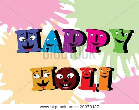 abstract colorful holi background, vector illustration