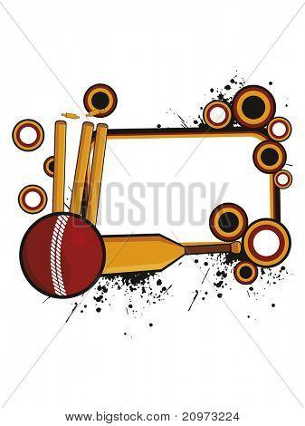 abstarct grungy cricket concept background, vector illustration
