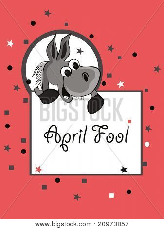 vector illustration for april fools day celebration