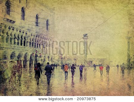 Vintage View Of Venice
