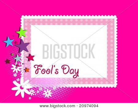 abstract artwork background for fools day, vector illustration