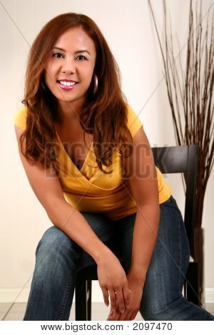 Beautiful Model Pose On Chair 2