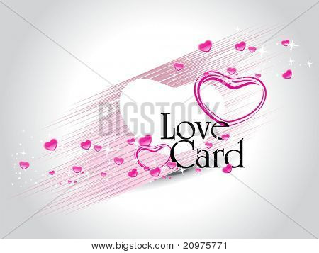 abstract grey twinkle star background with romantic pink heart