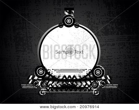 vector illustration of abstract grungy frame