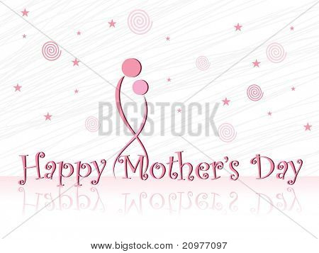 abstract concept illustration for mother's day celebration