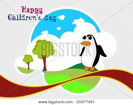 beautiful kiddish concept background for happy children's day
