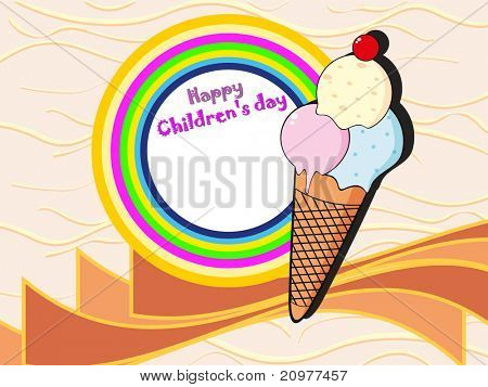 kiddish concept background for children's day celebration