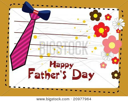 vector card for happy father's day celebration