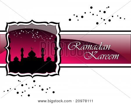 ramadan concept background, vector  illustration