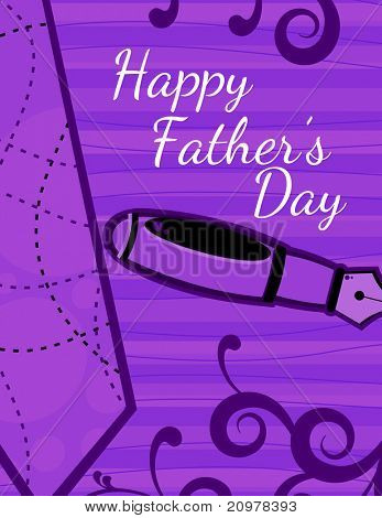 creative artwork design background for happy father's day celebration