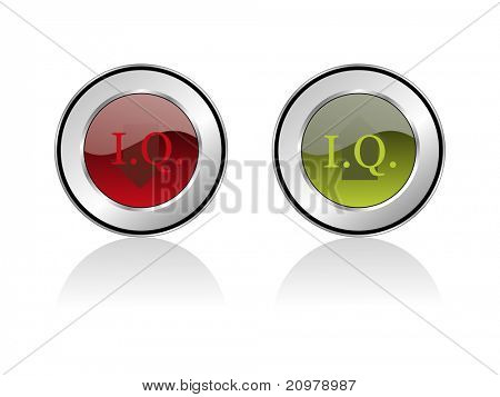 background with set of two iq research icon, vector illustration