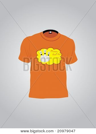 abstract grey background with isolated  tshirt