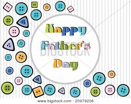colorful button concept greeting card for happy father's day celebration
