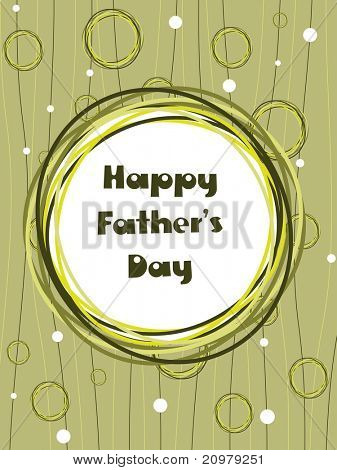 creative design greeting card for happy father's day