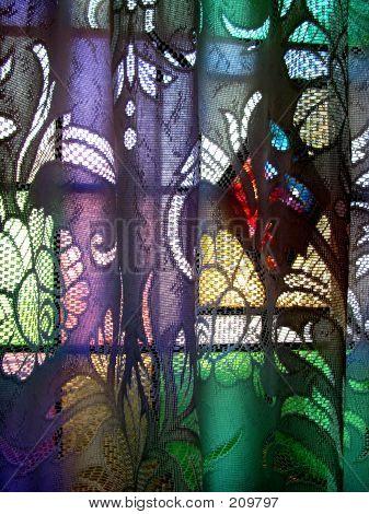 Coloured Glass Curtain