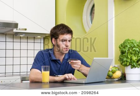 Online Shopping In Kitchen
