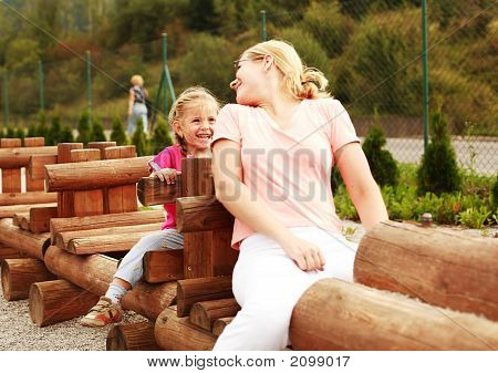 Kid at playground