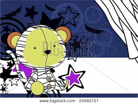 monkey  mummy plush cartoon background