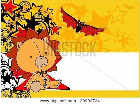 lion  bat plush cartoon background