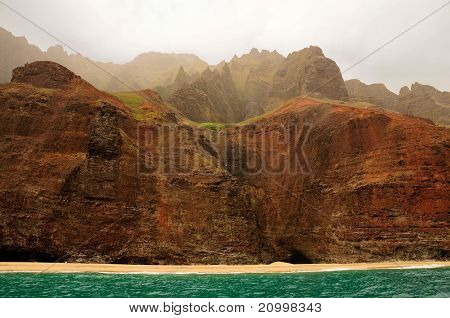 Tropical Cliffs On The Ocean