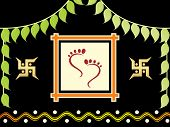 stock photo of laxmi  - foot print of Goddess laxmi - JPG