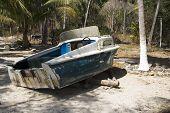 Beached Boat At Los Gatos poster