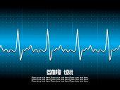 Постер, плакат: Медицинские абстрактный фон показаны ЭКГ сердца избили за технические сетки