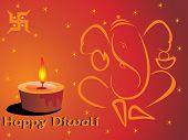 picture of swastika  - happy diwali background with diya - JPG