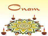 picture of pookolam  - background for onam celebration - JPG