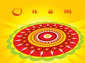 stock photo of pookolam  - abstract pattern background for onam - JPG