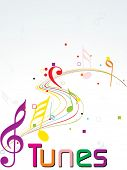 picture of musical note  - background with colorful musical notes - JPG