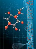 pic of neutrons  - chemistry formula background with atomic structure - JPG