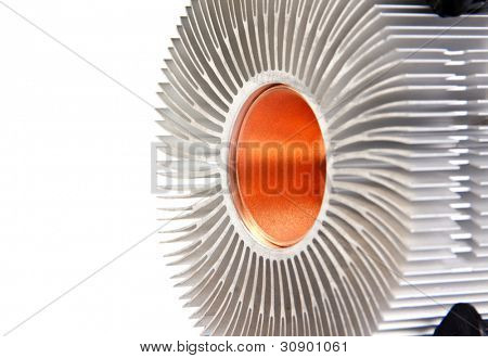 CPU cooler isolated on white