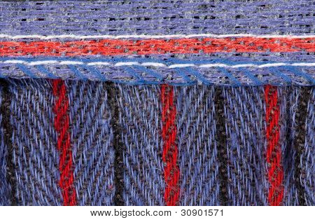 Blue textile surface. Use for background or texture