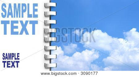 Notebook With Sky On Next Page
