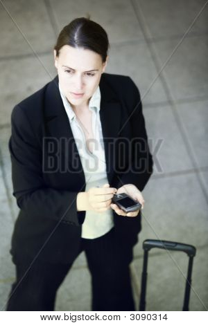 Businesswoman And Smartphone