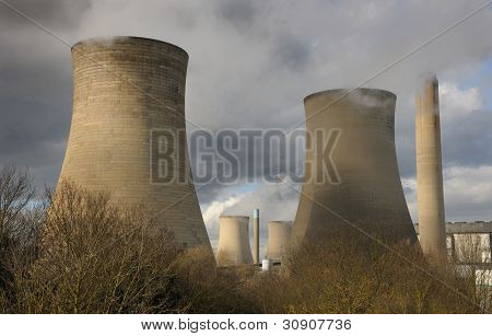 Power station in winter