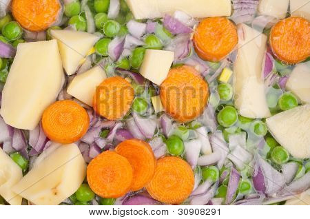 Fresh chopped vegetable ready for cooking
