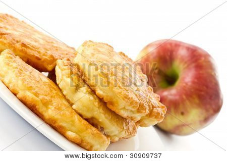 Fried Fritters With Apple