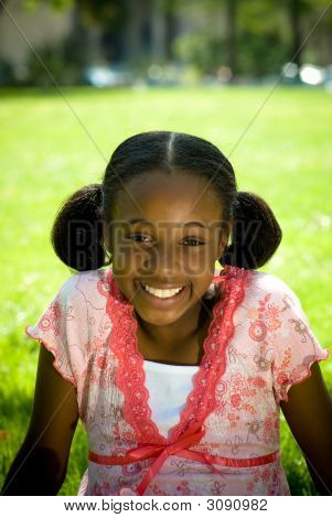 African American Girl With A Big Smile