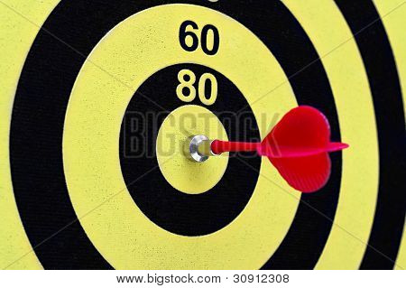 The Magnetic Needle Darts In The Center Of The Target