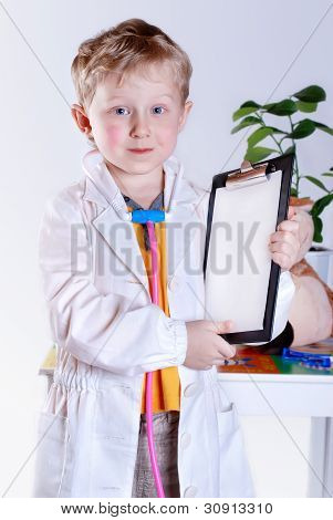Little Boy With Medical Tools