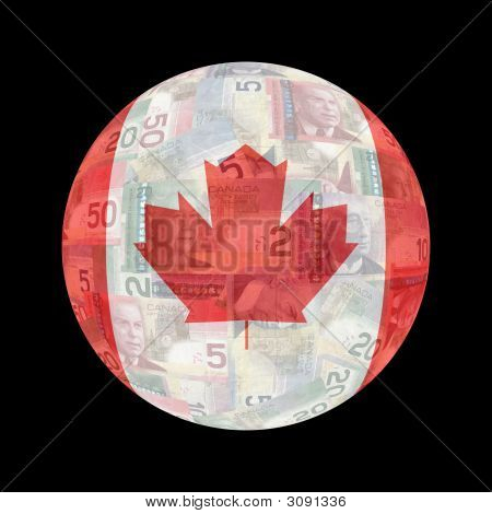 Canadian Flag Currency Button