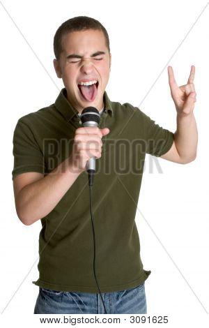 Teenager Singing