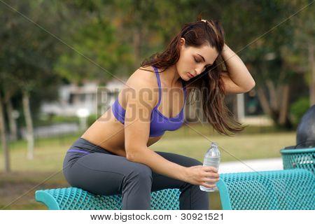 Beautiful Female Athlete Outdoors (8)